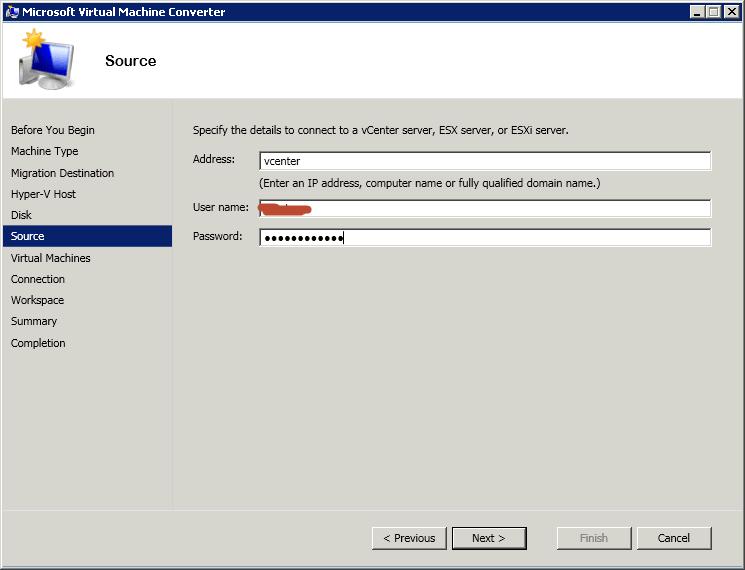 Как сконвертировать виртуальную машину ESXI 5.5 (vmdk) в Hyper-V (vhdx) с помощью Virtual Machine Converter 3.1-08