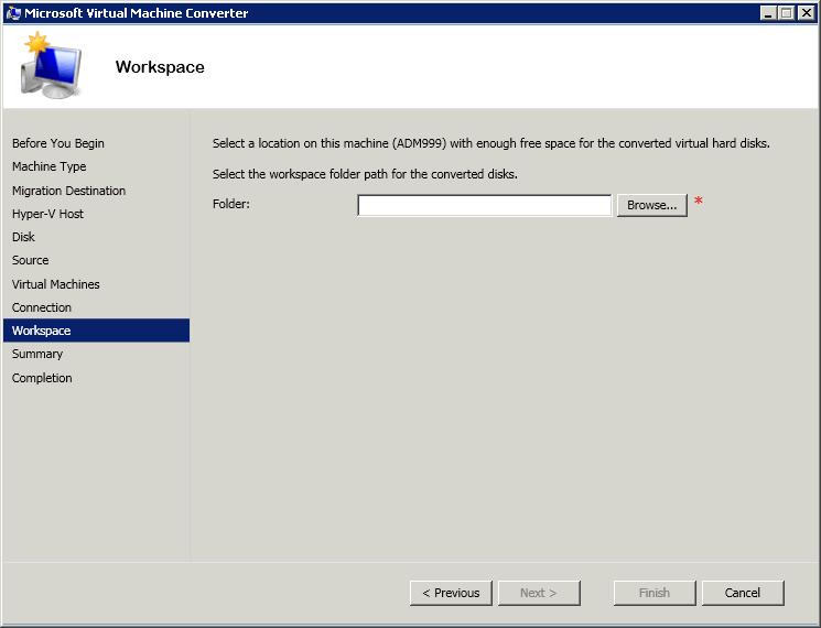 Как сконвертировать виртуальную машину ESXI 5.5 (vmdk) в Hyper-V (vhdx) с помощью Virtual Machine Converter 3.1-11