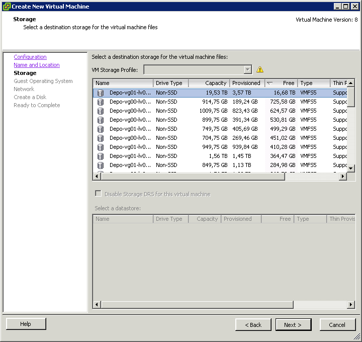 Как создать виртуальную машину в vCenter и ESXI 5.x.x-06
