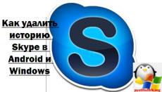 удалить историю сообщений skype