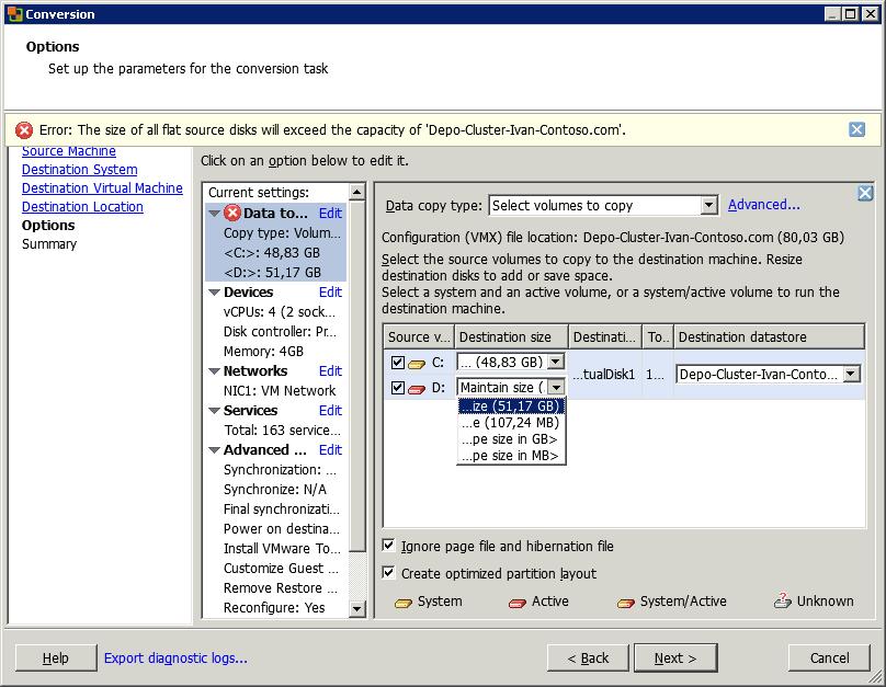 Как уменьшить размер виртуального диска (vmdk) виртуальной машины ESXI 5.x.x-06