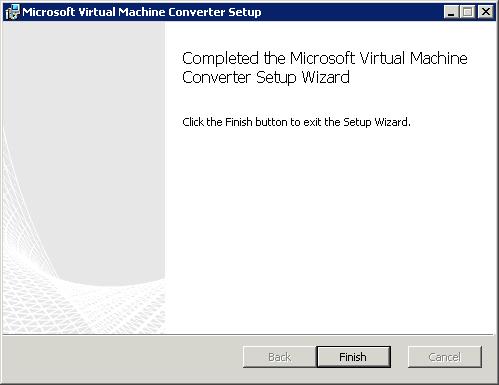 Как установить  Virtual Machine Converter 3-06