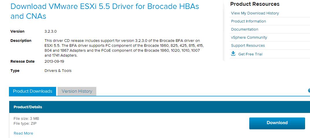 Как установить драйвера для HBA-адаптера Brocade 825 на ESXi 5.х.х-02