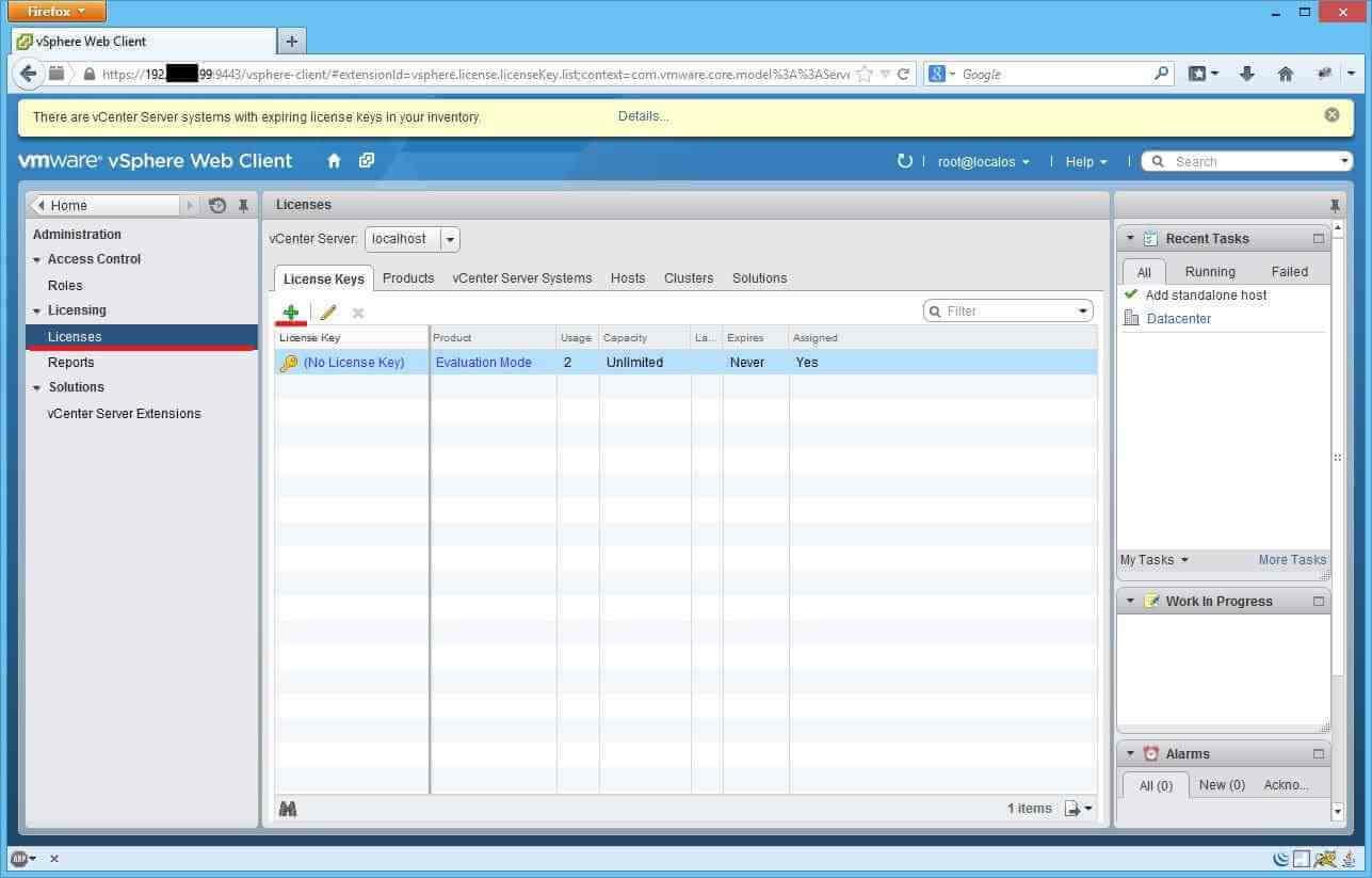 Как установить лицензии вvCenter и ESXI 5.x.x через Web Client-02