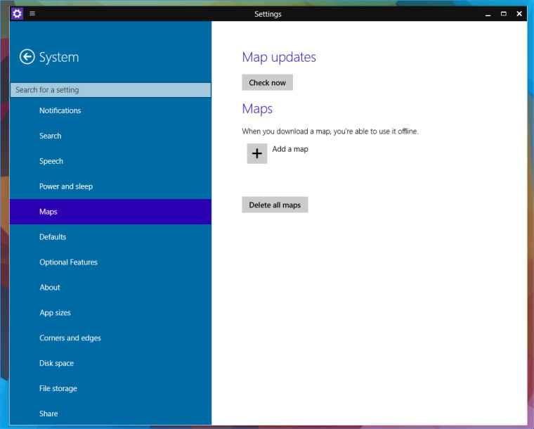 Сборка Windows 9888 в сети и карты для работы в режиме офлайн