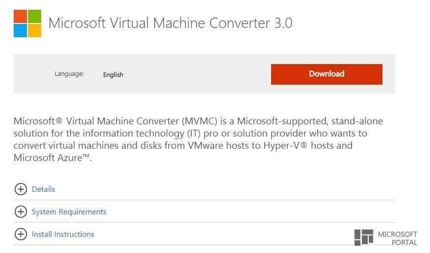 Virtual Machine Converter обновлена до третьей версии