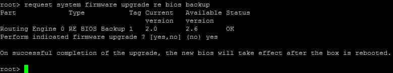 Как обновить BIOS в Juniper SRX через консоль-06