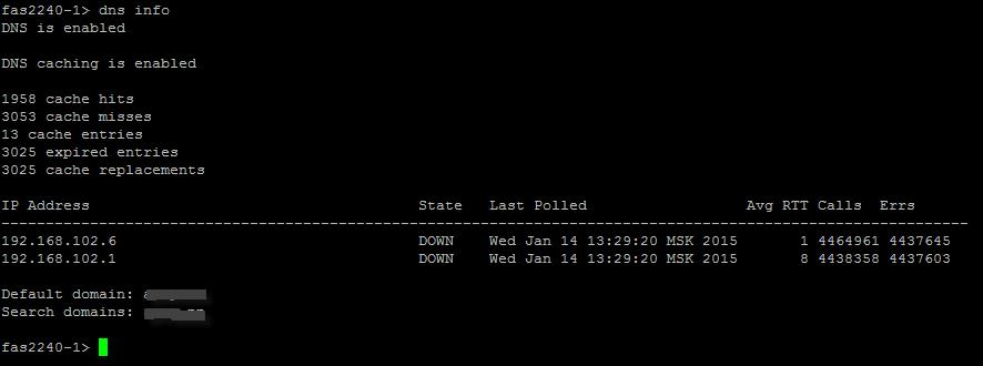 Как получить список DNS в NetApp