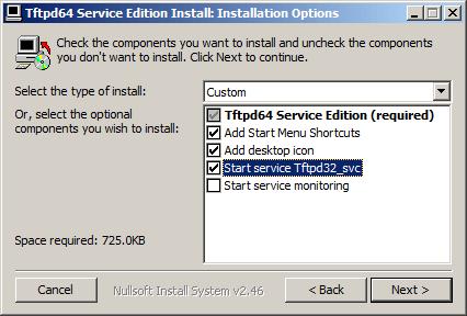 Как установить tftp сервер на примере tftpd64 service edition-03