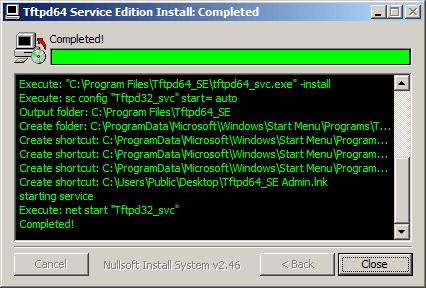Как установить tftp сервер на примере tftpd64 service edition-07