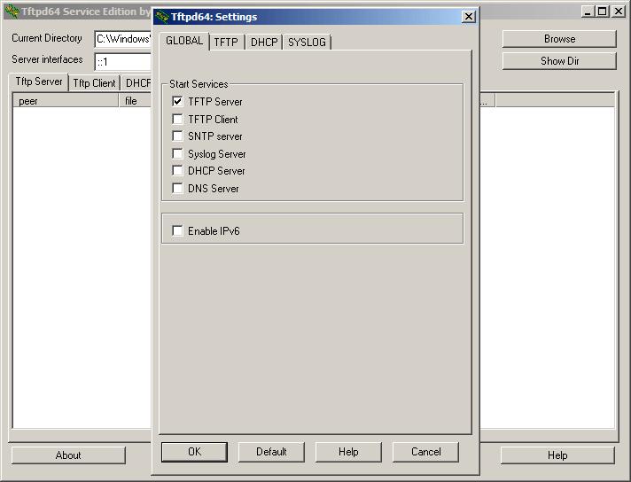 Как установить tftp сервер на примере tftpd64 service edition-09