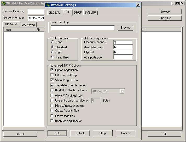 Как установить tftp сервер на примере tftpd64 service edition-10