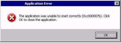 Ошибка 0xc000007b в windows