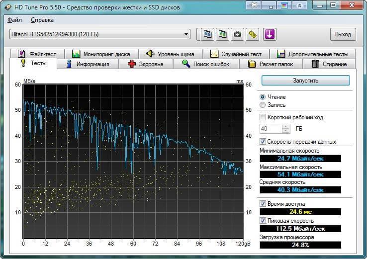 Как определить здоровье HDD (жесткого диска) с помощью HD Tune Pro-01