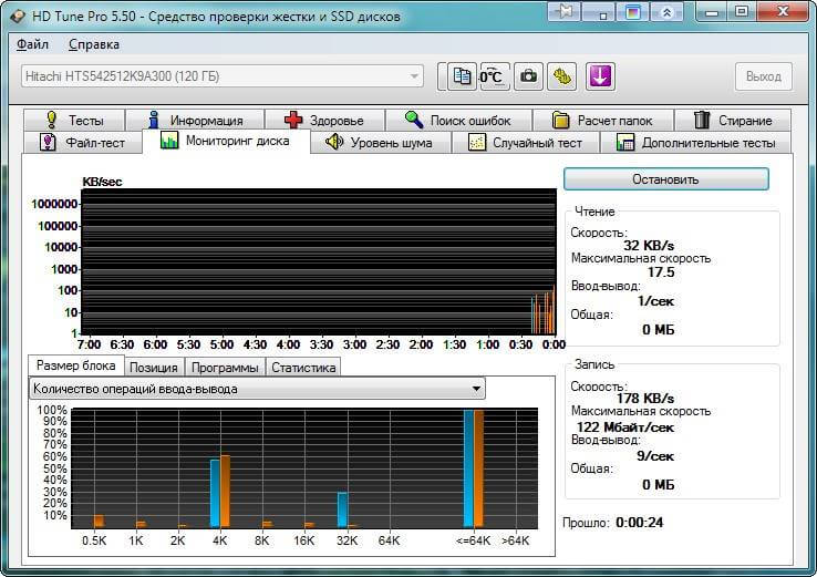 Как определить здоровье HDD (жесткого диска) с помощью HD Tune Pro-10