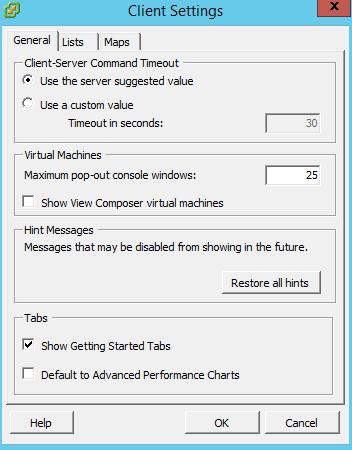 Как убрать вкладку Getting Started в Vsphere Client-03