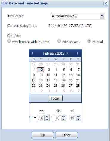 Как в Juniper SRX настроить время через веб интерфейс-02