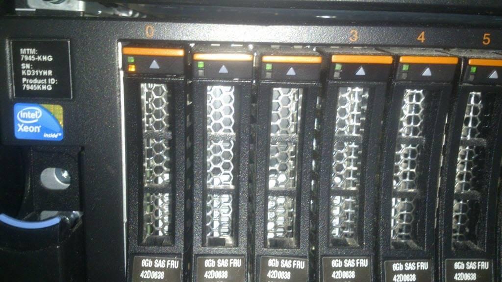 Как запросить замену диска в сервере у IBM-13
