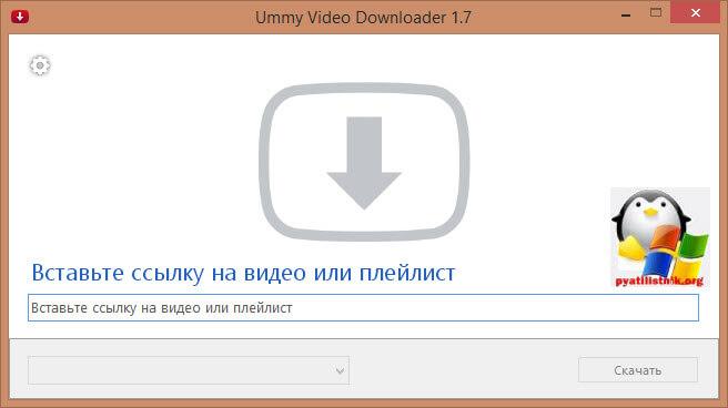 Утилита UmmyVideoDownloader-1