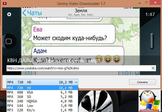Утилита UmmyVideoDownloader-2