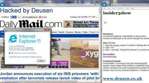 В Internet Explorer найдена уязвимость типа XSS
