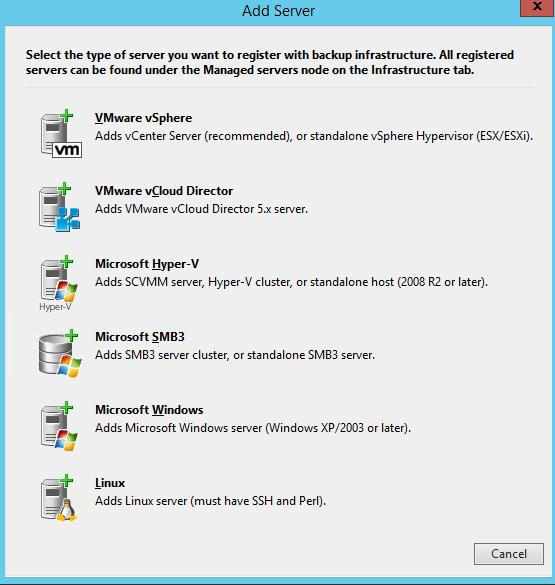 Veeam Backup & Replication 7 1 часть. Добавление сервера виртуальной инфраструктуры Hyper-V-01