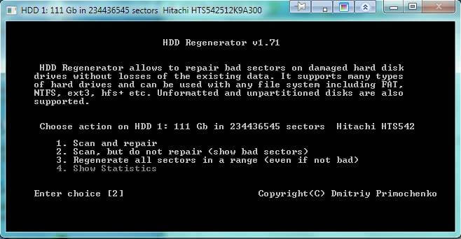 Восстановление жесткого диска с помощью HDD Regenerator-05