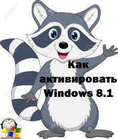как активировать лицензию windows 8.1