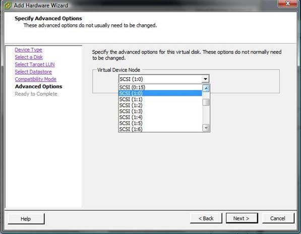 Как добавить диск raw device mapping (RDM) в VM ESXI 5.5-07