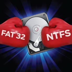 Как конвертировать FAT32 в NTFS без потери данных