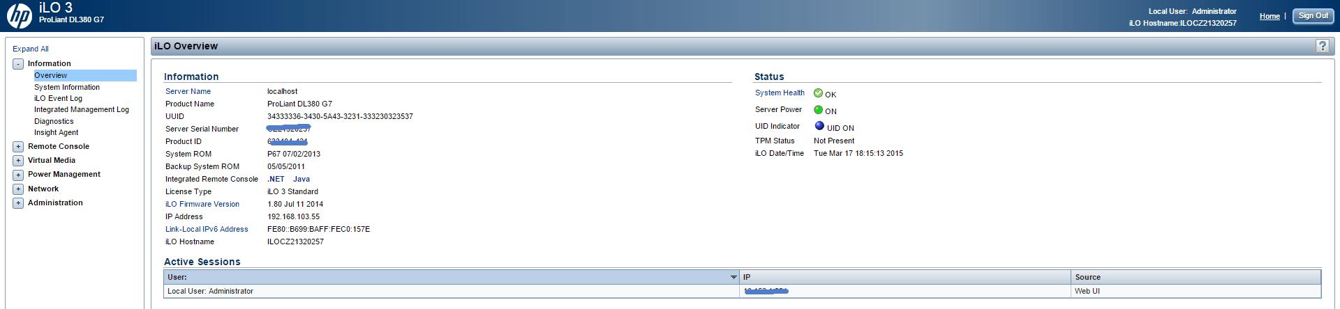 Как настроить ILO порт на HP dl380 g7 через ESXI 5.5-11