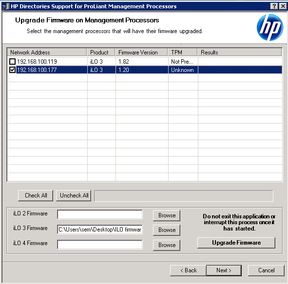 Как обновить прошивку ILO 3 в HP dl380 g7 в ESXI 5.5 через HP Lights-Out Online Configuration Utility-05
