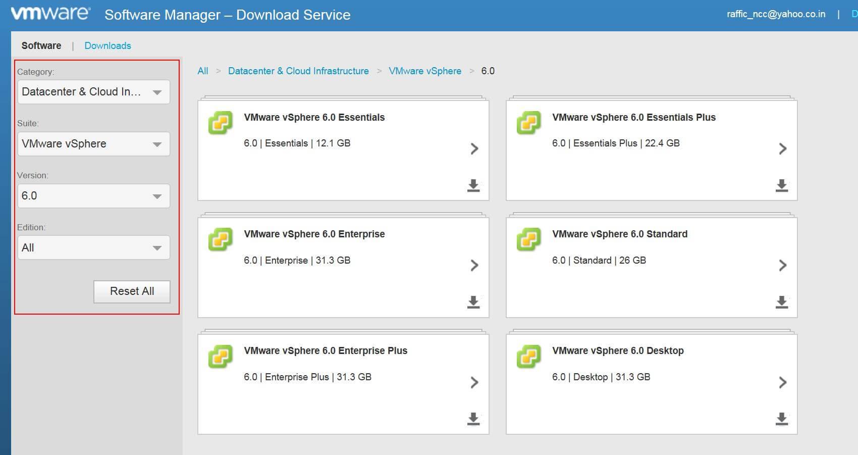 Как скачать VMware vSphere 6.0-03
