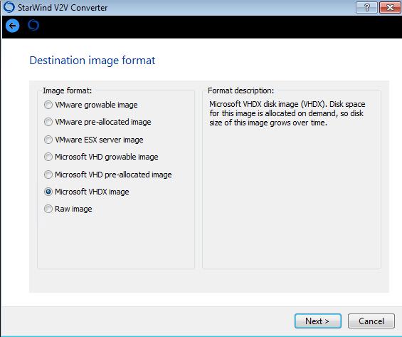 Как сконвертировать vmdx в vhdx с помощью StarWind V2V Converter V8-03