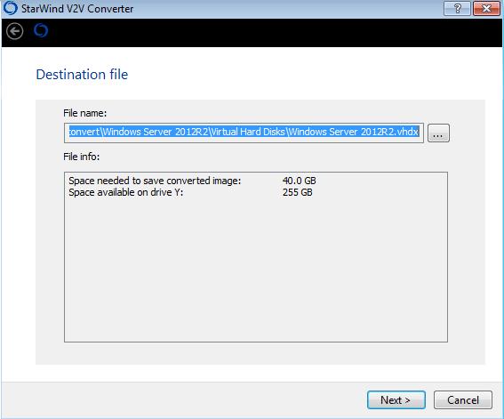 Как сконвертировать vmdx в vhdx с помощью StarWind V2V Converter V8-05
