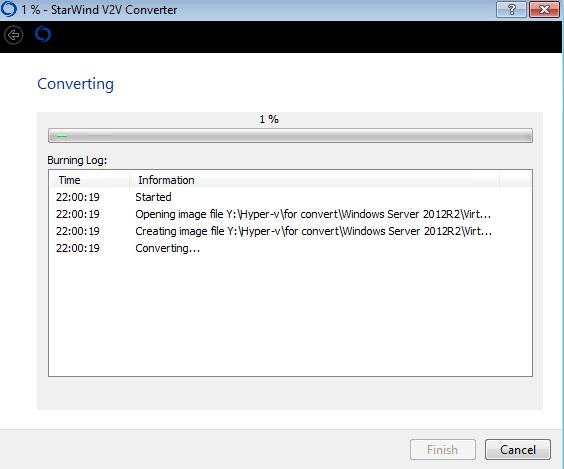 Как сконвертировать vmdx в vhdx с помощью StarWind V2V Converter V8-06