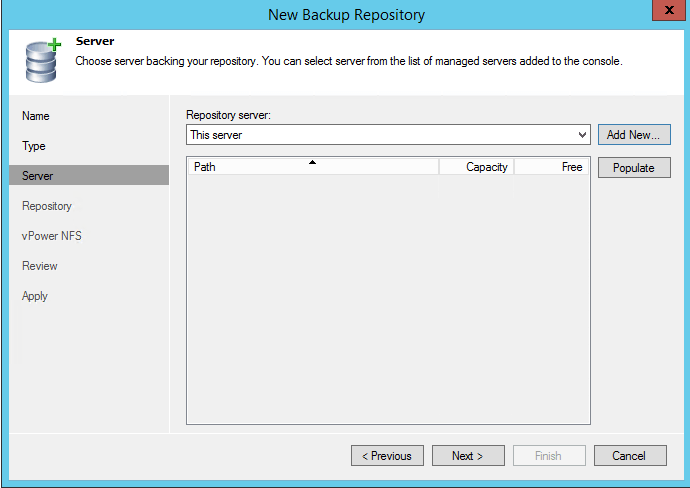 Выбор сервера бэкапов