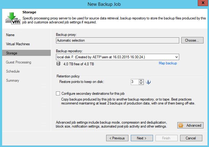 Как создать задание резервного копирования в Veeam Backup & Replication 7-08