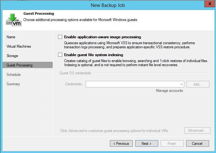 Как создать задание резервного копирования в Veeam Backup & Replication 7-10