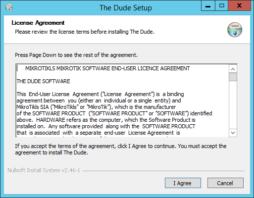 Как установить Dude-01