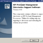 Как установить HP Directories Support for ProLiant Management Processors