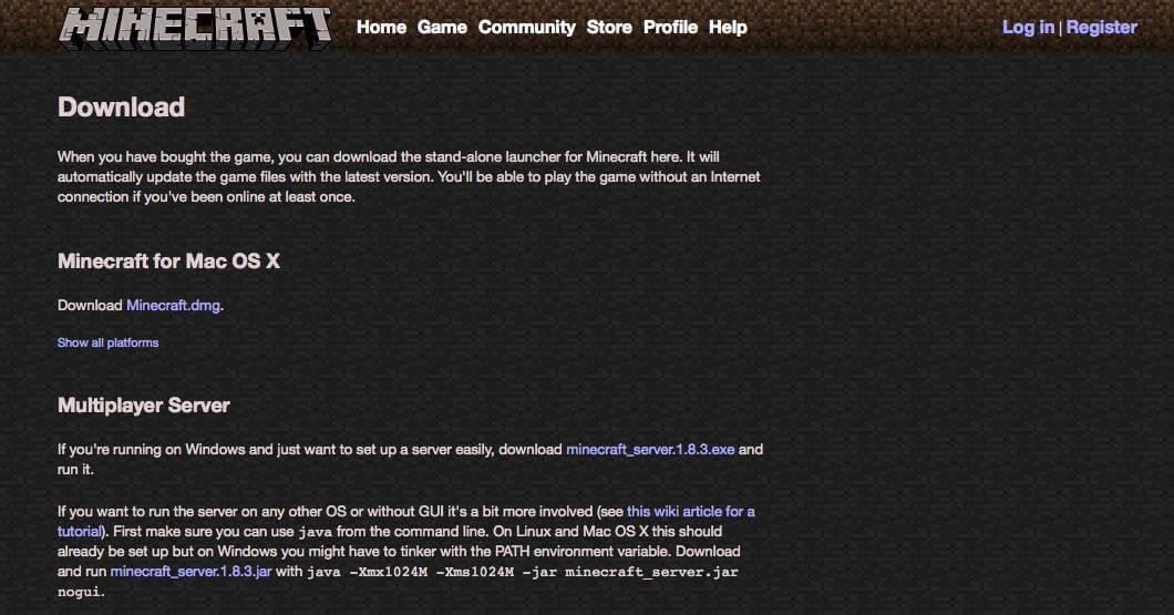 Как установить Minecraft на OS X-01
