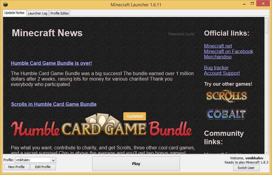 Как установить Minecraft в Windows-10