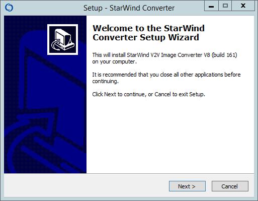 Как установить StarWind V2V Converter V8-01