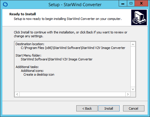 Как установить StarWind V2V Converter V8-06