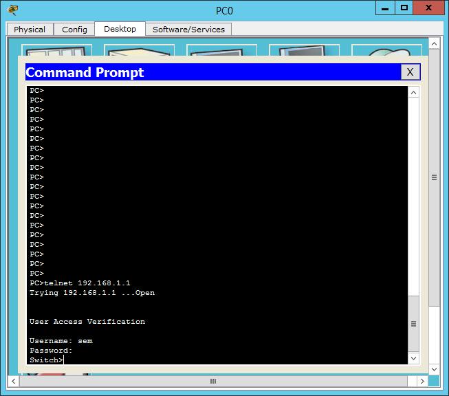 Как включить telnet в Cisco на примере Cisco 2960+48TC-S-03