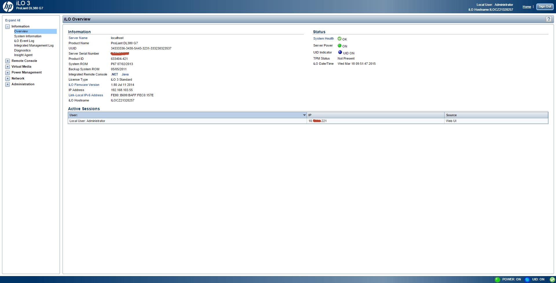 Обзор параметров ILO 3 в HP dl380 g7-02