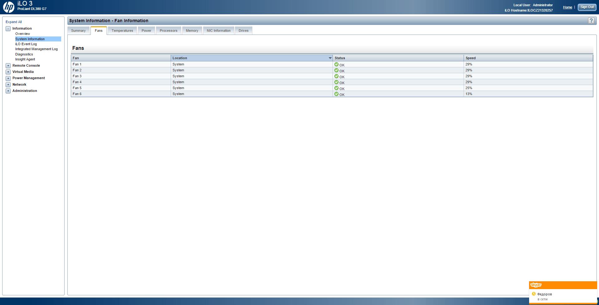 Обзор параметров ILO 3 в HP dl380 g7-04