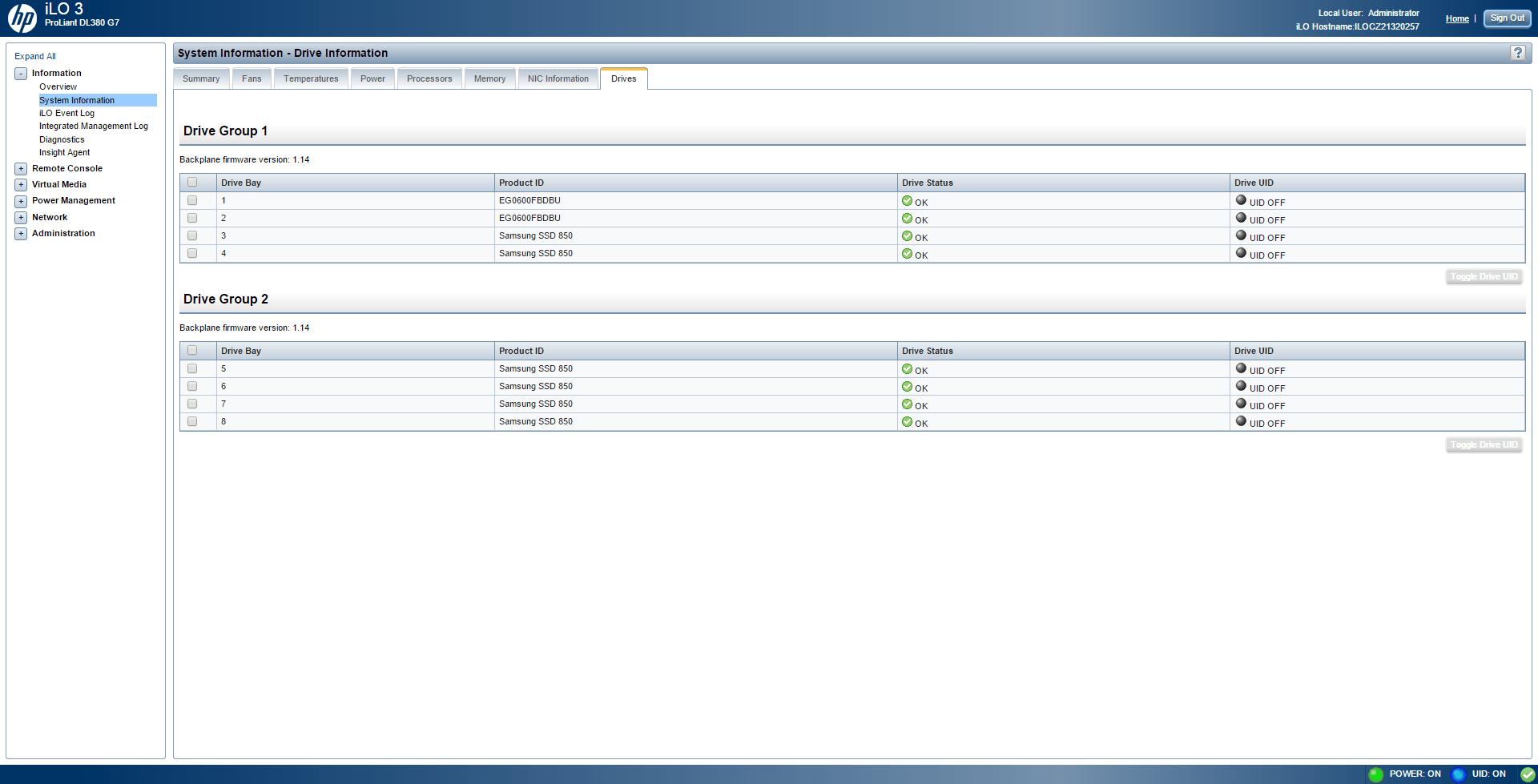 Обзор параметров ILO 3 в HP dl380 g7-10