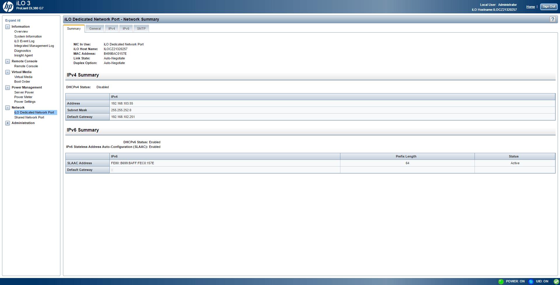 Обзор параметров ILO 3 в HP dl380 g7-18